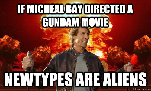 gundam michael bay