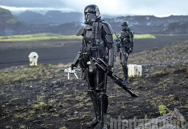 Deathtroopers prowling on a tundra